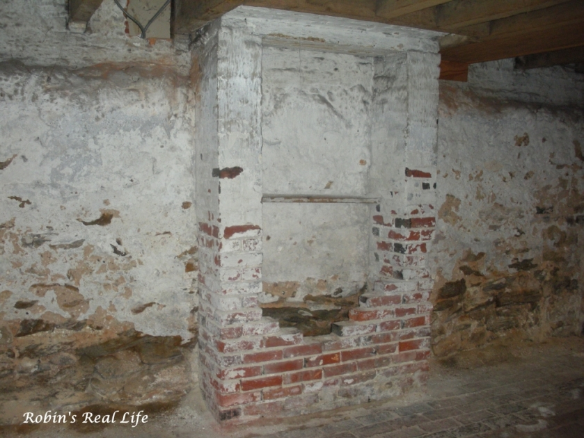 An Area of the Basement That Was Once Bricked Up - Poe House Philly