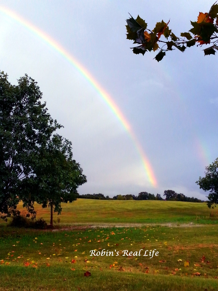Double Rainbow touching ground watermark